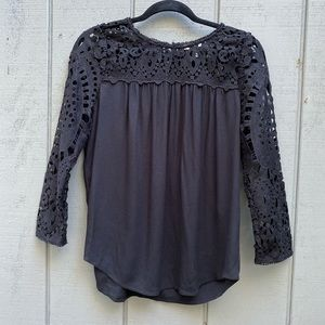 Joie Blouse With Lace at Top